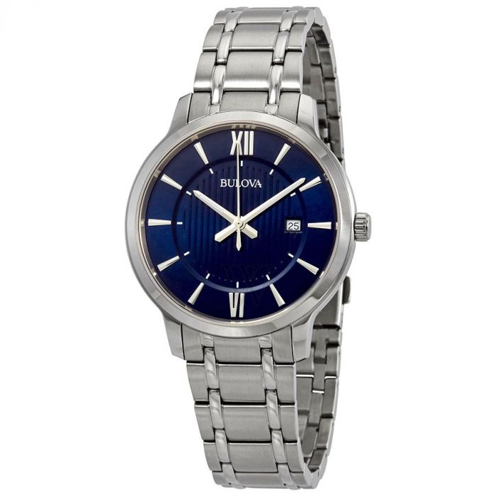 Bulova Classic Blue Dial  Men's Watch 96B282