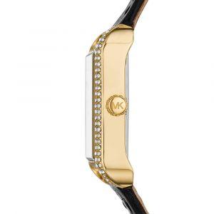 Michael Kors Lake Crocodile Embossed Black Leather Women's Watch Watch MK2762