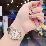 Bulova Diamond Mother of Pearl Two Tone Women's Watch 98P134