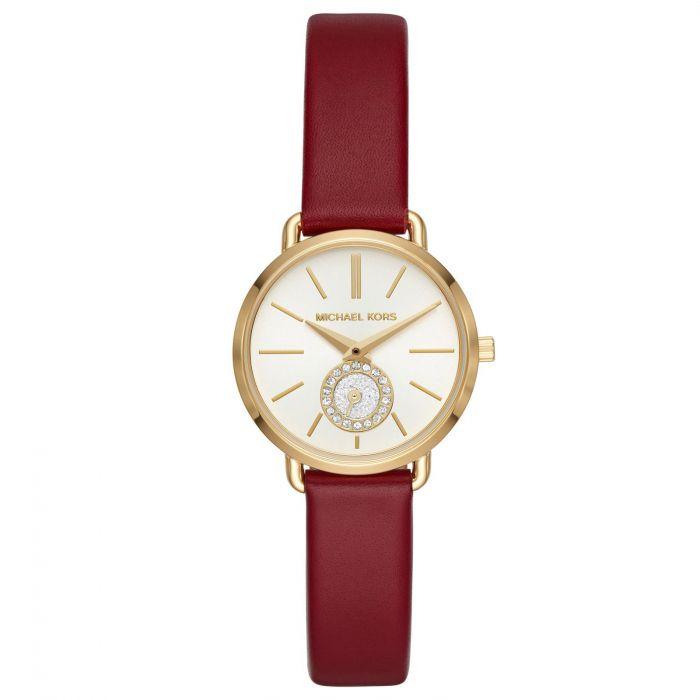 Michael Kors Petite Portia Merlot Leather Women's Watch MK2751