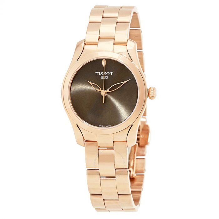 Tissot T-Wave Anthracite Rose Gold Women's Watch T112.210.33.061.00