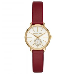Michael Kors Petite Portia Merlot Leather Women's Watch MK2751