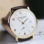Frederique Constant Slim Line Date Brown Leather Men's Watch FC-245VA5S5