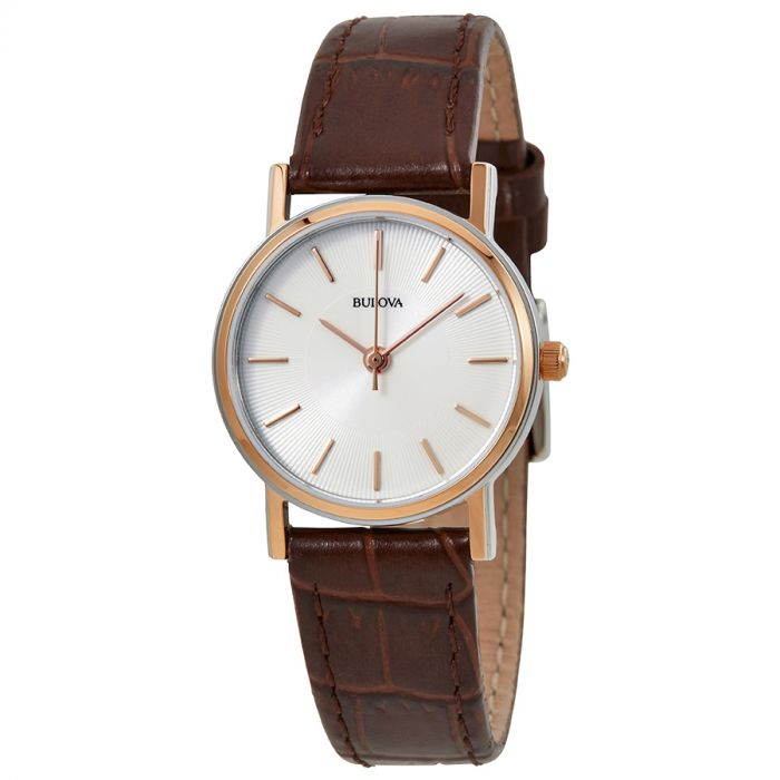 Bulova Strap Series Brown Leather Women's Watch 98V31