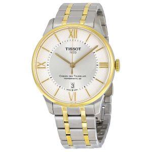 Tissot Demi Vàng Chemin Des Tourelles Automatic Mặt Tròn Dây Kim Loại Lịch Ngày T099.407.22.038.00