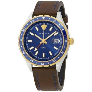 Versace Hellenyium Blue Dial Date Men's Watch V11080017