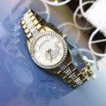 Bulova Swarovski Crystal Pave Two Tone Women's Watch 98L241