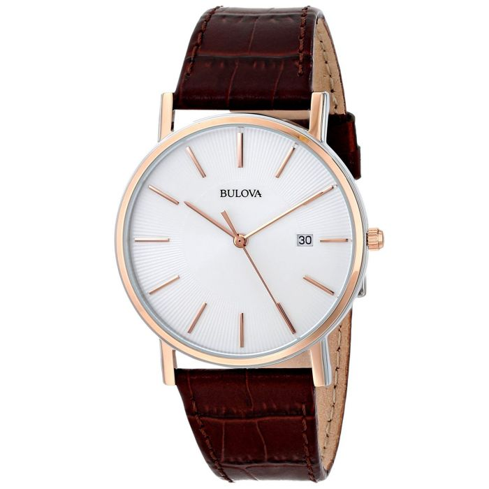 Bulova Strap Series Brown Leather Men's Watch 98H51