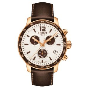 Tissot Quickster Chronograph Leather Brown Men's Watch T095.417.36.037.01