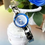 Caravelle by Bulova Clear Crystal Beveled Blue Dial Women's Watch 43L122