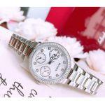 Bulova Crystal Accented Silver Women's Watch 96N108