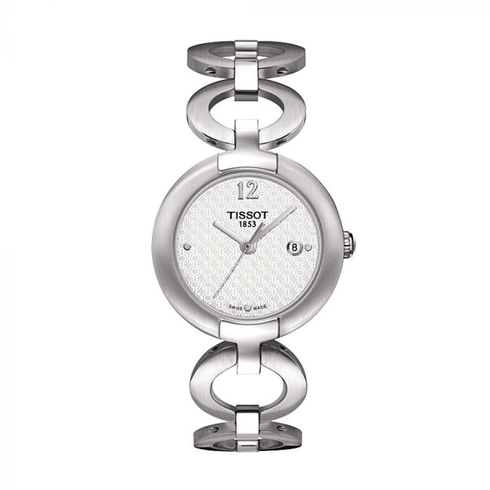 Tissot Pinky White Arabesque Dial Stainless Steel Women's Watch  T084.210.11.017.01