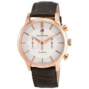 Claude Bernard Classic Automatic Silver Dial Chronograph Men's Watch 08001 37R AIR