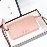 Gucci Clutch Kèm Quai Đeo Màu Hồng Phấn 466507 BMJ1G