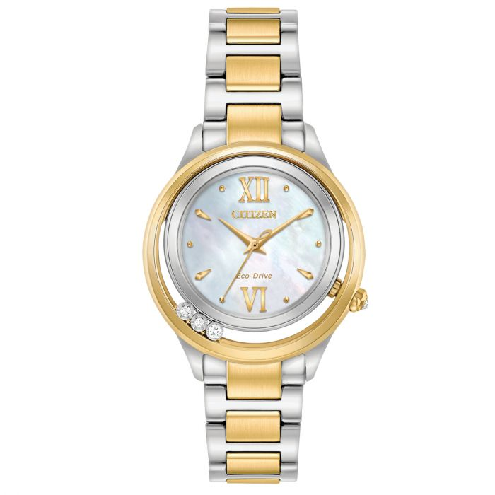 Citizen L Sunrise LS Mother of Pearl Dial Two Tone Women's Watch EM0514-52D