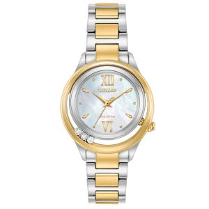 Citizen L Sunrise LS Mother of Pearl Dial Two Tone Women's Watch EM0514-52D