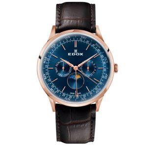 Edox Les Vauberts Moon Phase Men's Watch 40101-37RC-BUIR
