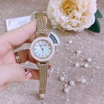 Anne Klein Swarovski Crystal Mesh Pink Blush Women's Watch AK/1906PMGB