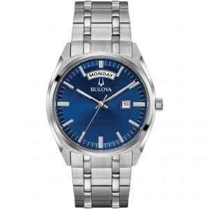Bulova Classic Stainless Steel Blue Dial Men's Watch 96C125