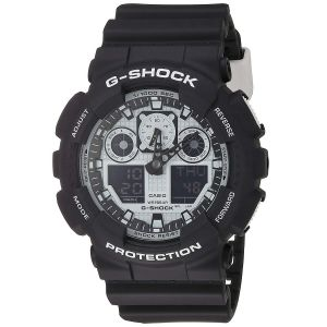 Casio G-Shock Series Luxury Mặt Tròn Dây Nhựa Màu Đen GA100BW-1A