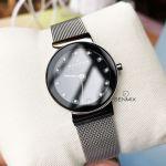 Skagen Ancher Quartz Mesh Casual Black Dial Women's Watch 358SSSBD