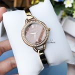 Caravelle New York Bangle Analog Roman Crystal Accented 44L134