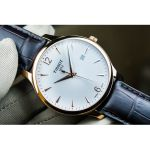 Tissot Tradition Rose Gold PVD Brown Leather Men's Watch T063.610.36.037.00