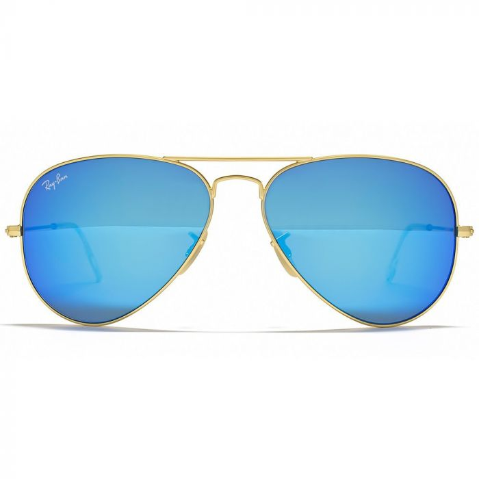 Ray-ban Aviator Pilot Blue Flash Sunglasses RB3025 112/17 62