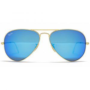 Ray-ban Aviator Pilot Blue Flash Sunglasses RB3025 112/17 62