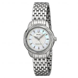 Bulova Precisionist Brightwater Mother of Pearl Women's Watch 96R153
