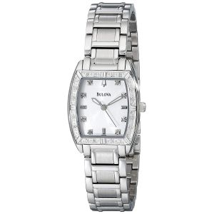 Bulova Highbridge Mother of Pearl Dial Diamond Bezel Women's Watch 96R162