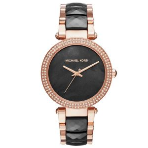Michael Kors Parker Black Rose Gold Women's Watch MK6414