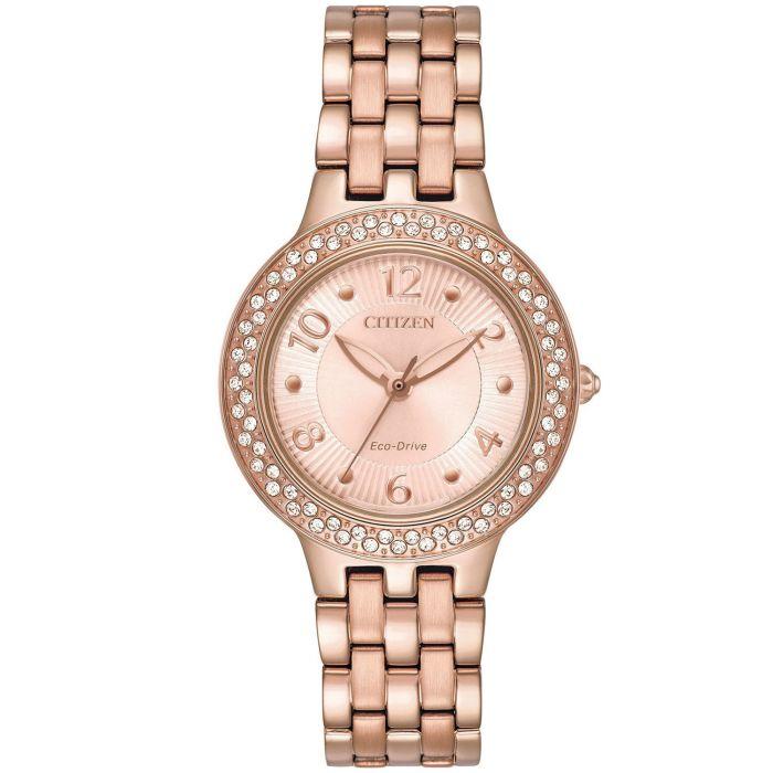 Citizen Silhouette Crystal Pink Gold Women's Watch FE2083-58Q