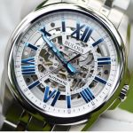 Bulova Automatic Movement Blue Skeleton Men's Watch 96A187