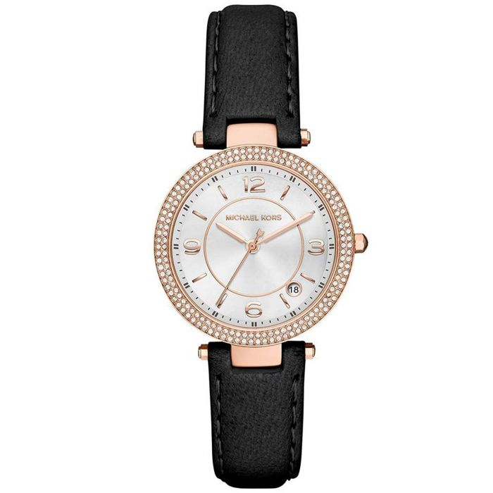 Michael Kors Mini Parker Black Leather Women's Watch MK2462
