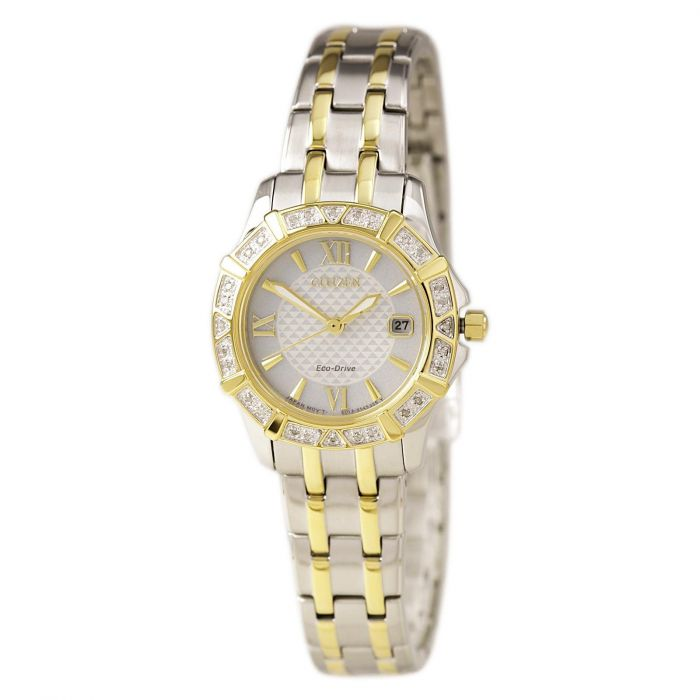 Citizen Silhouette Diamond Two Tone Women's Watch EW2364-50A