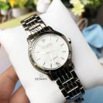 Caravelle Bulova Diamond Round Silver Tone Women's Watch 43P109