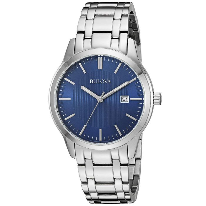 Bulova Stainless Steel Blue Dial Men's Watch 96B222