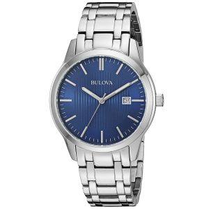 Bulova Stainless Steel Blue Dial Men's Watch 96B222