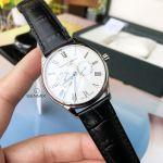 Frederique Constant Classics Silver Dial Black Leather Strap Day Date Swiss Quartz Men's Watch FC-259WR5B6