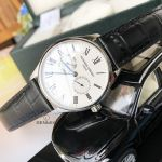 Frederique Constant Classics Silver Dial Black Leather Strap Day Date Swiss Quartz Men's Watch FC-259WR5B6