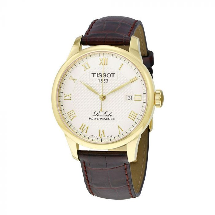 Tissot Le Locle Powermatic 80 Automatic Brown Leather Men's Watch T006.407.36.263.00