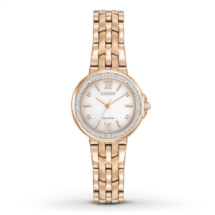 Citizen Silhouette Diamond Rose Gold Women's Watch EM0443-59A