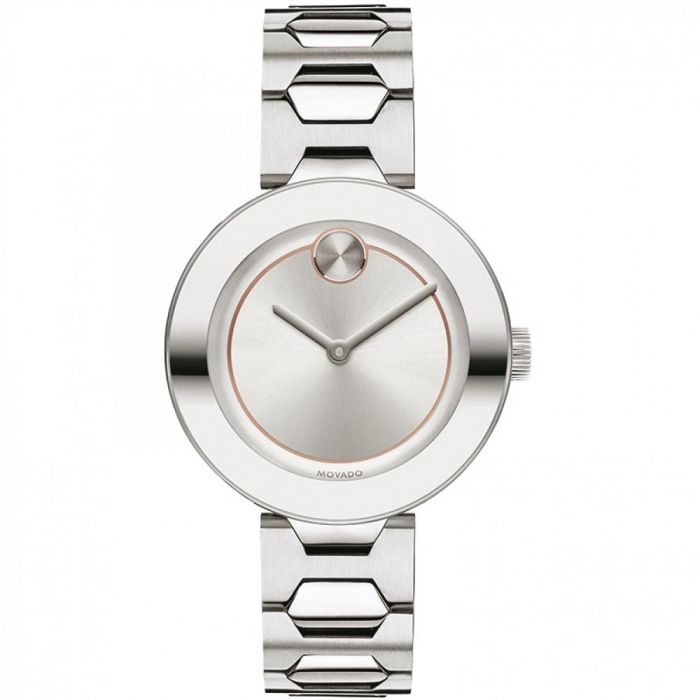 Movado Swiss Quartz Bold Silver Women's Watch 3600381