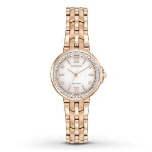Citizen Silhouette Diamond Rose Gold Women's Watch EM0443-59A