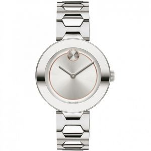 Movado Swiss Quartz Bold Silver Women's Watch 3600381