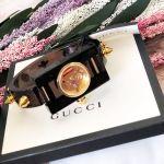Gucci Champage Mặt Tròn Màu Vàng Khung Chữ Nhật Dây Plexiglass YA143509