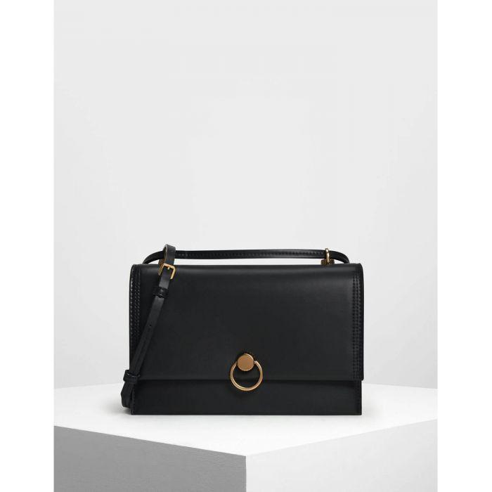 Charles & Keith Classic Shoulder Black Bag CK2-20780763
