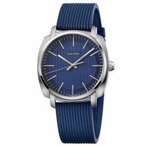 Calvin Klein Highline Dial Blue Rubber Men's Watch K5M311ZN