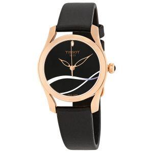 Tissot T-Wave Black Leather Women's Watch T112.210.36.051.00